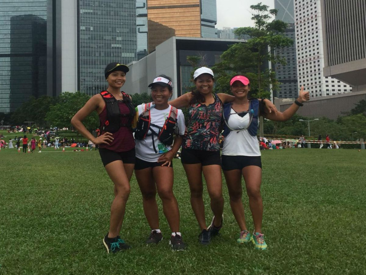 "Members of the ""Maid of Heart and Sole"" team for this year's Trailwalker challenge Photo: Eden M. Marciano"