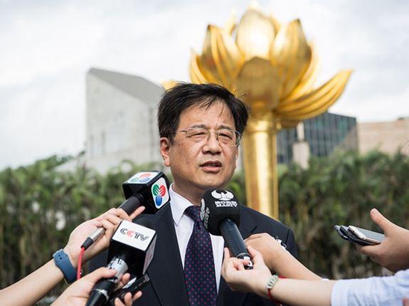 A file photo showing Zheng Xiaosong, director of Beijing's Liaison Office in Macau. Photo: Handout