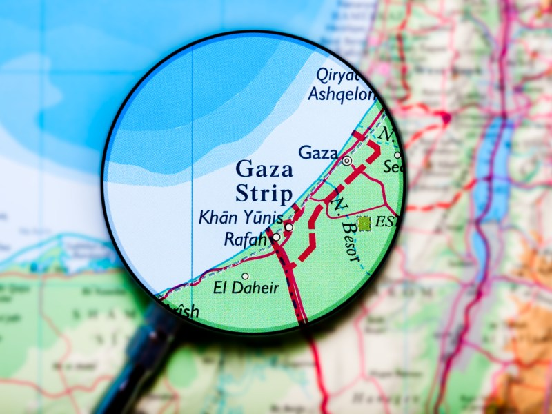 Map of Gaza Strip: iStock