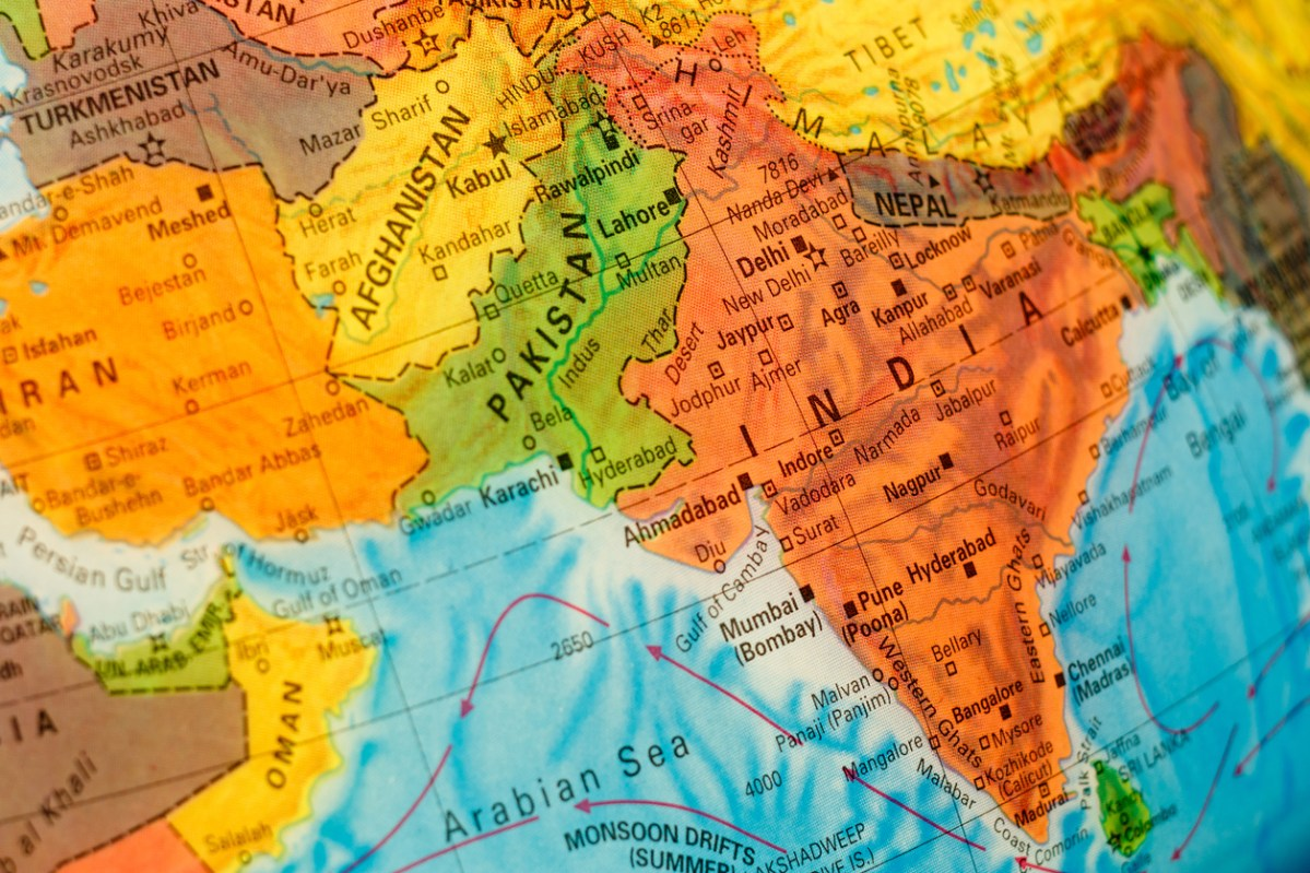 Map of South Asia: iStock