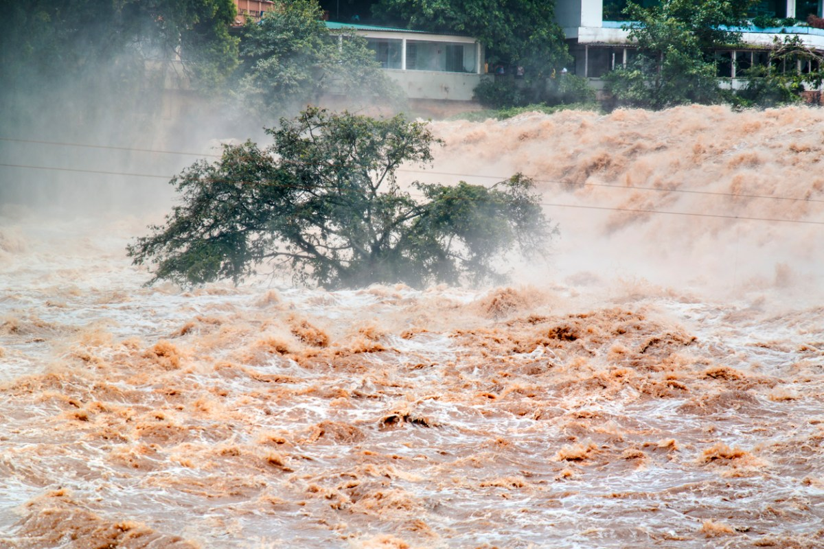 Photo of a place flooded. Overflow. Photo: iStock