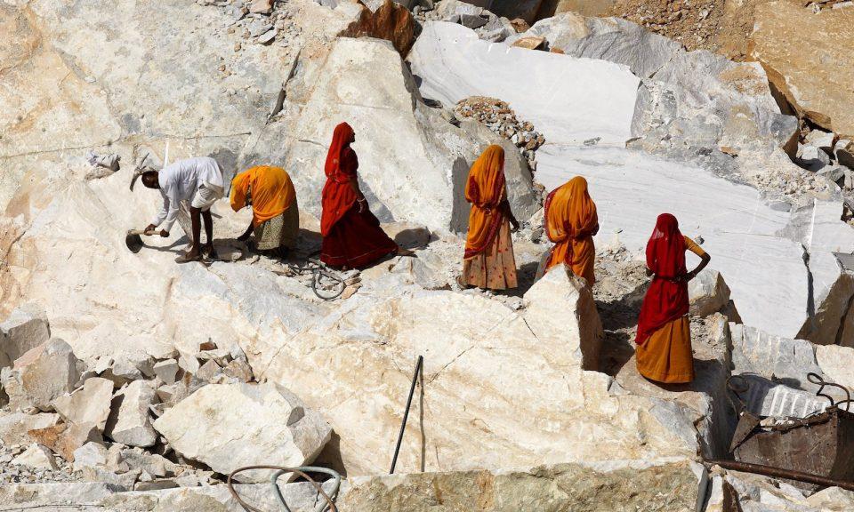 印度採石場有數千名工人患有矽肺病,這是一種潛在的致命疾病。圖為拉賈斯坦邦其中一個採石場。相片:AFP
