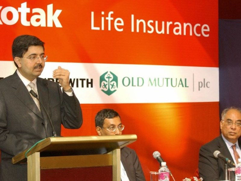 Uday Kotak, vice-chairman and managing director of Kotak Mahindra Bank, addresses a press meet. Photo: AFP