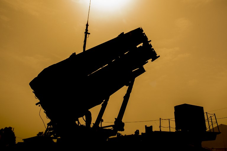 """A US Patriot missile defense system is seen during the Israeli-US military exercise """"Juniper Cobra"""" at the Hatzor Airforce Base in Israel in March of this year. Photo: AFP/Jack Guez"""