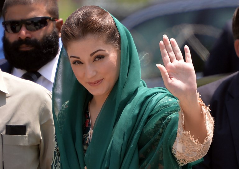 The daughter of Pakistani Prime Minister Nawaz Sharif, Maryam Nawaz. Photo: AFP