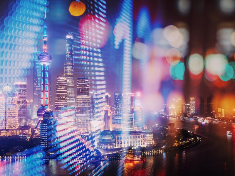 Abstract image of Shanghai's skyline. Photo: iStock/Getty Images