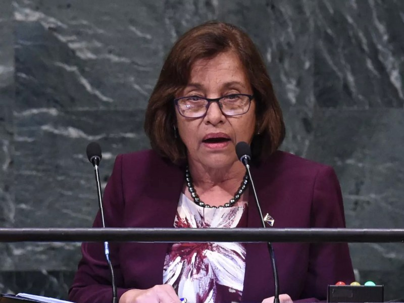 Marshall Islands' President Hilda Heine claims 'Chinese interests' are trying to topple her from power. Photo: AFP