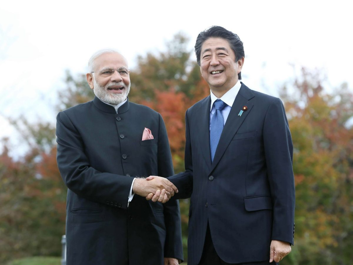 Indian Prime Minister Narendra Modi, left, and his Japanese counterpart Shinzo Abe. Both are key players in the Quad grouping. Photo: AFP