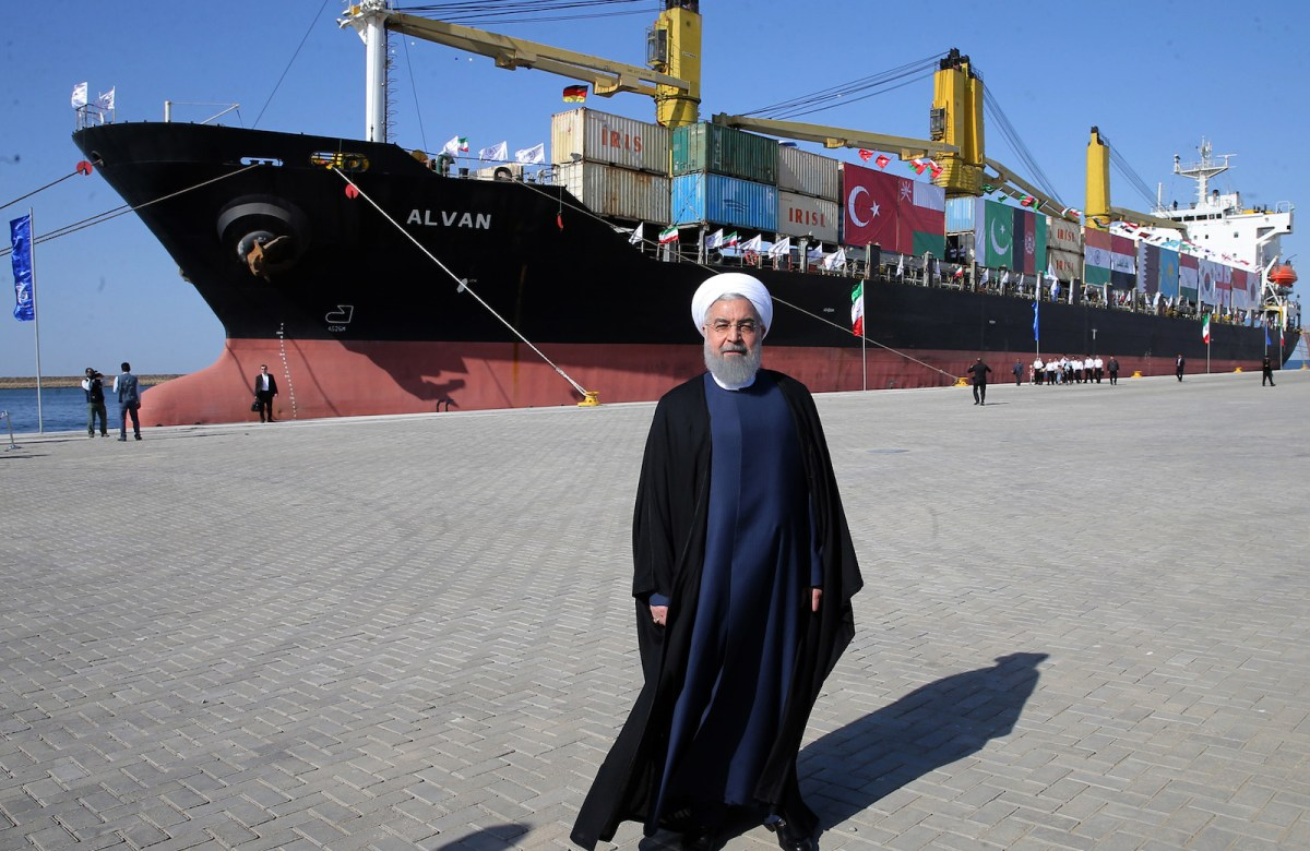 Iranian President Hassan Rouhani attends the inauguration of Chabahar port on December 3, 2017. Photo: Iranian Presidency / AFP