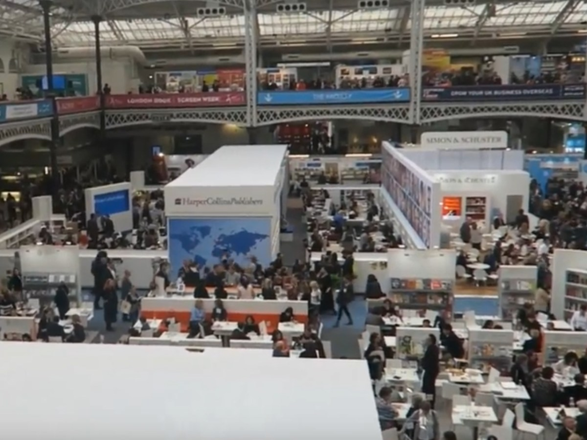 Last year's London Book Fair. Captured on Youtube.