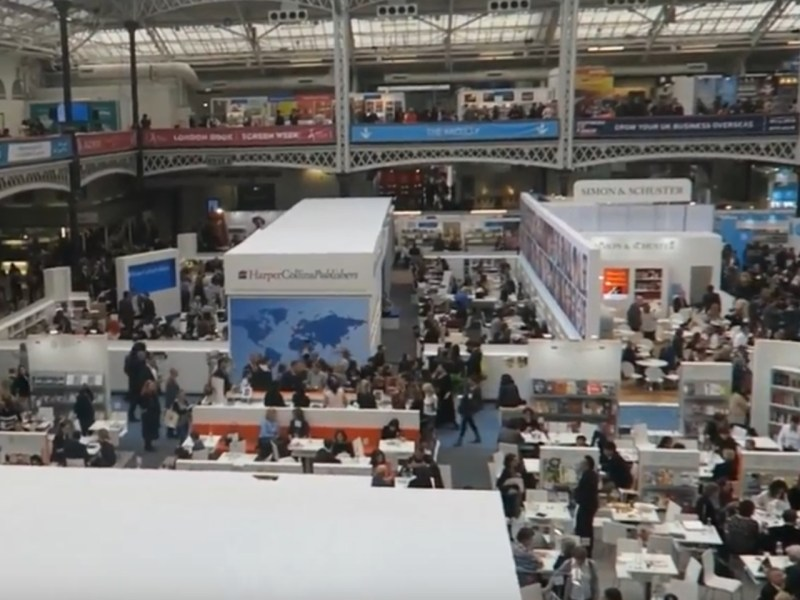 Last year's London Book Fair. Captured on Youtube.