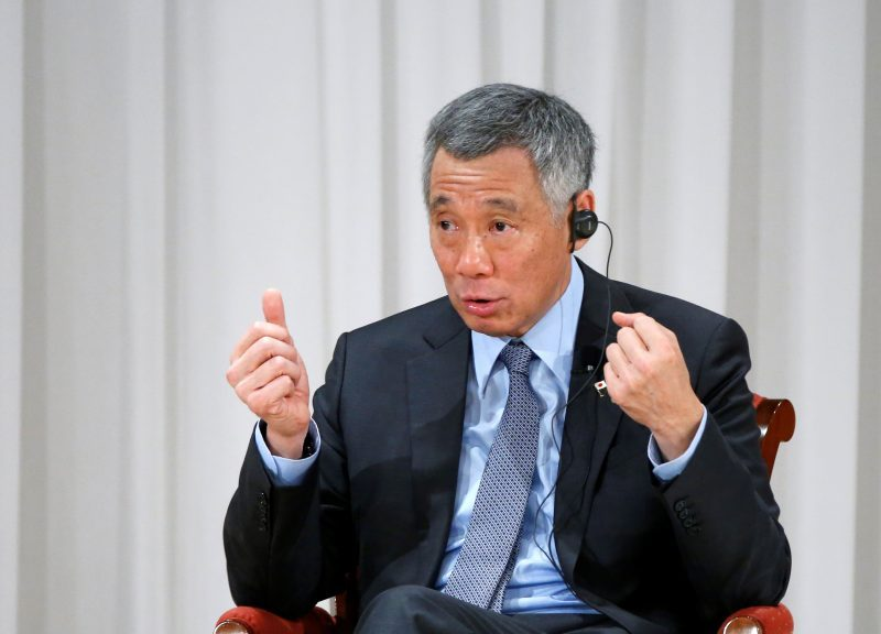 2016年9月29日,新加坡總理李顯龍於日本東京舉行的亞洲未來國際會議上發表講話。相片:Reuters / Kim Kyung-Hoon