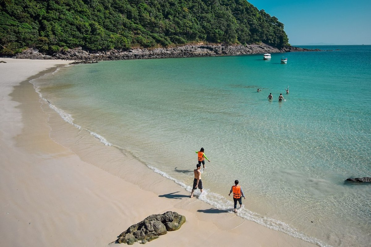 People swim at Smart Island in the Mergui Archipelago. Photo: WikiCommons