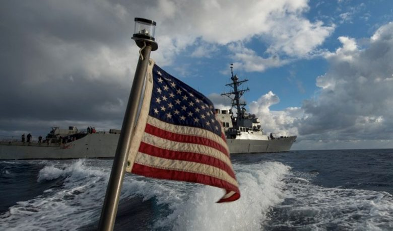 A US naval vessel in the South China Sea. Photo: Facebook