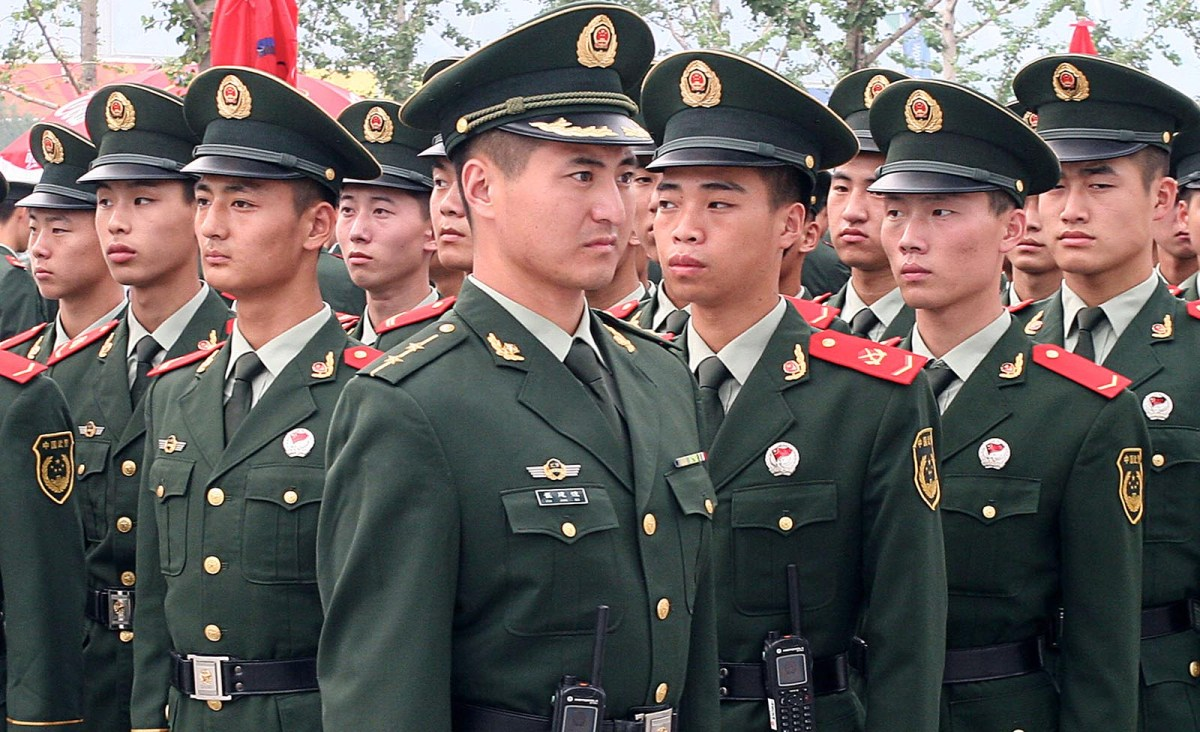 PLA soldiers on parade. Photo: iStock