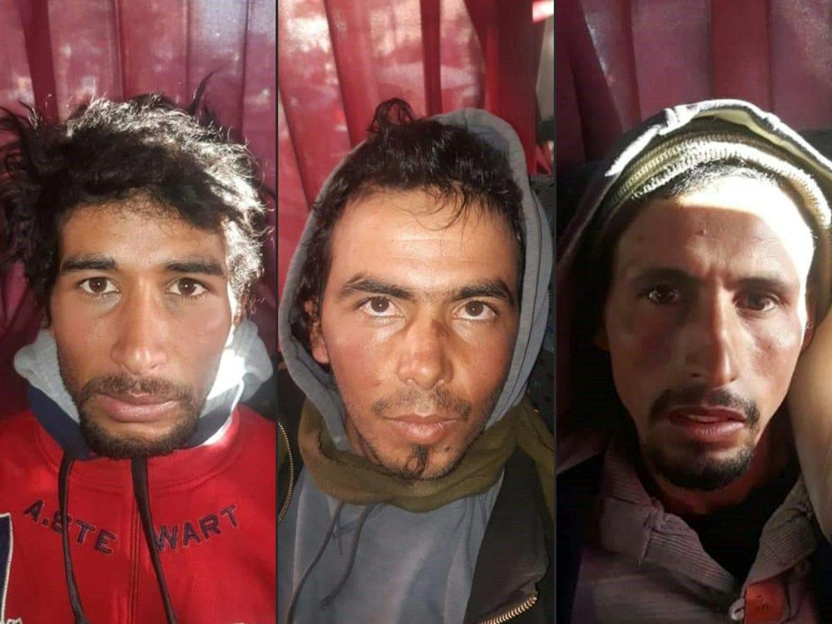 تم عمل هذه الصورة المجمعة في 20 ديسمبر /كانون الأول لصور ثلاثة مشتبهين في مقتل سائحتين بالمغرب والتي نشرتها الشرطة المغربية بعد القبض عليهم. صورة:   MOROCCAN POLICE / AFP)