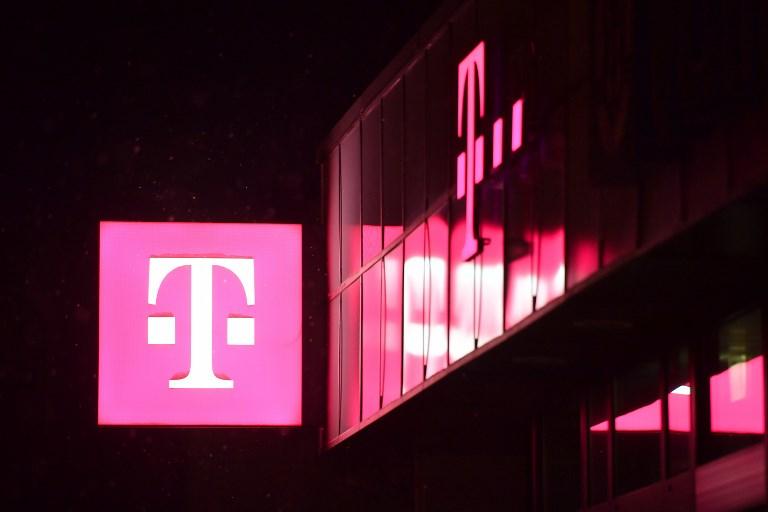 The logo of Deutsche Telekom. Photo: AFP
