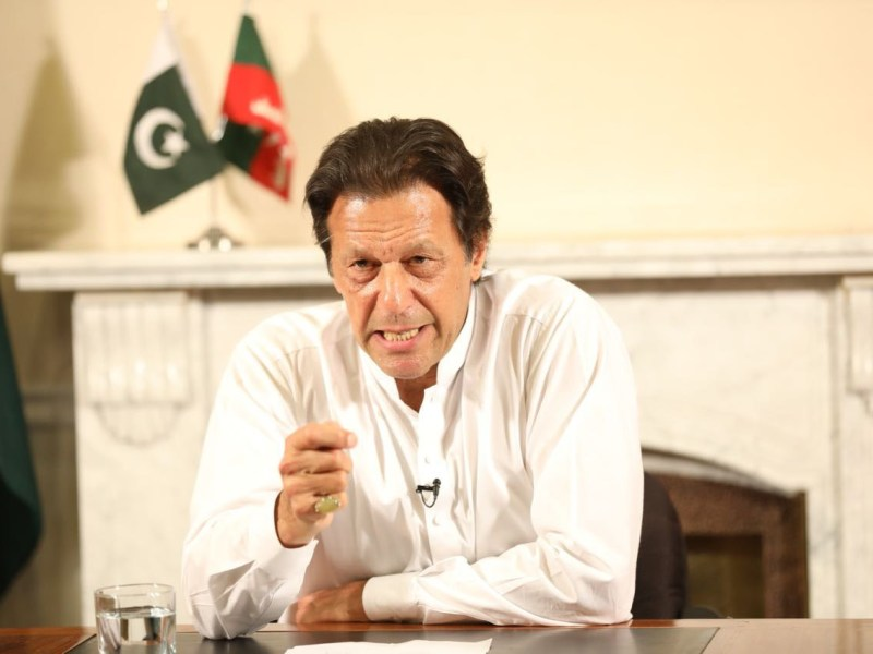 Prime Minister Imran Khan's government has been accused of wanting to devastate his rivals running Sindh state. Photo: AFP / Muhammad Reza / Anadolu