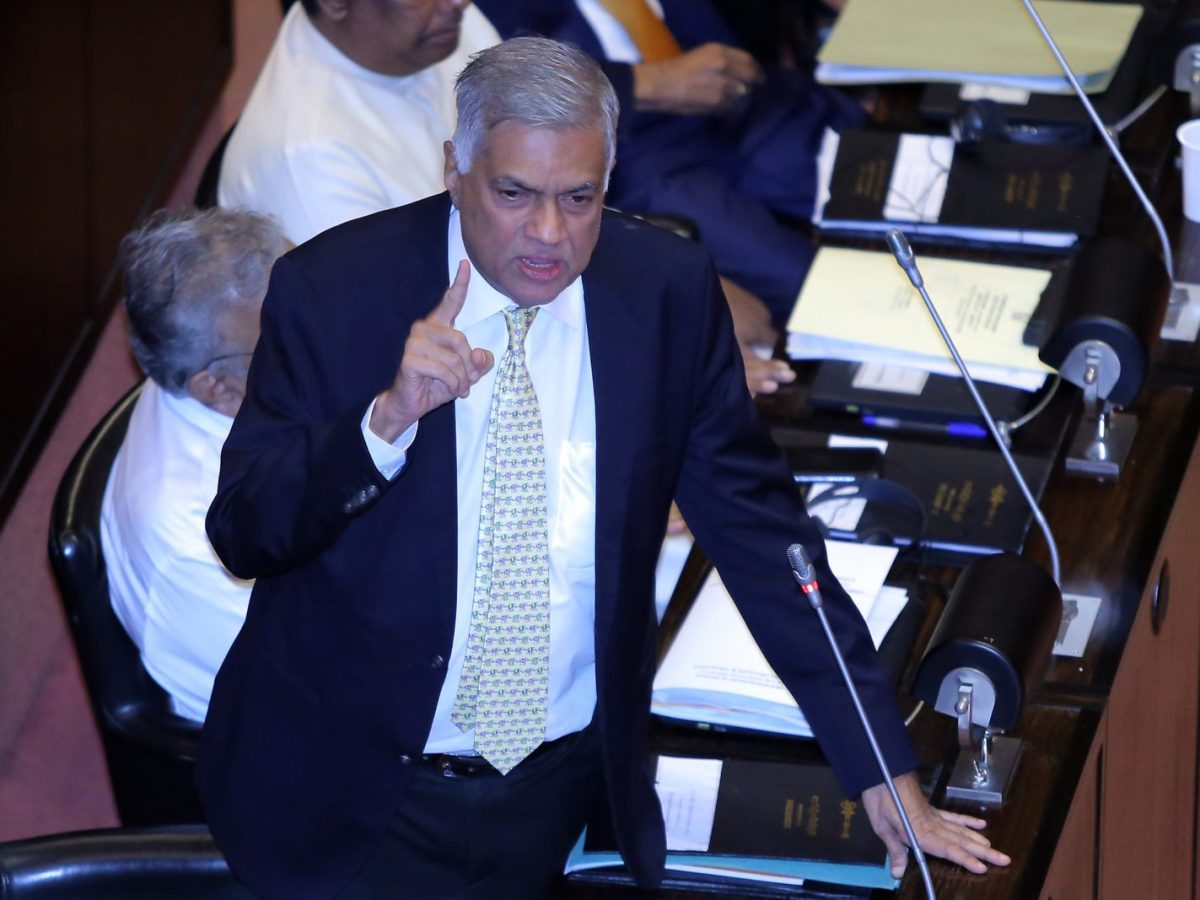 Former Prime Minister Ranil Wickremesinghe has been reappointed, ending political crisis in Sri Lanka. Photo: AFP