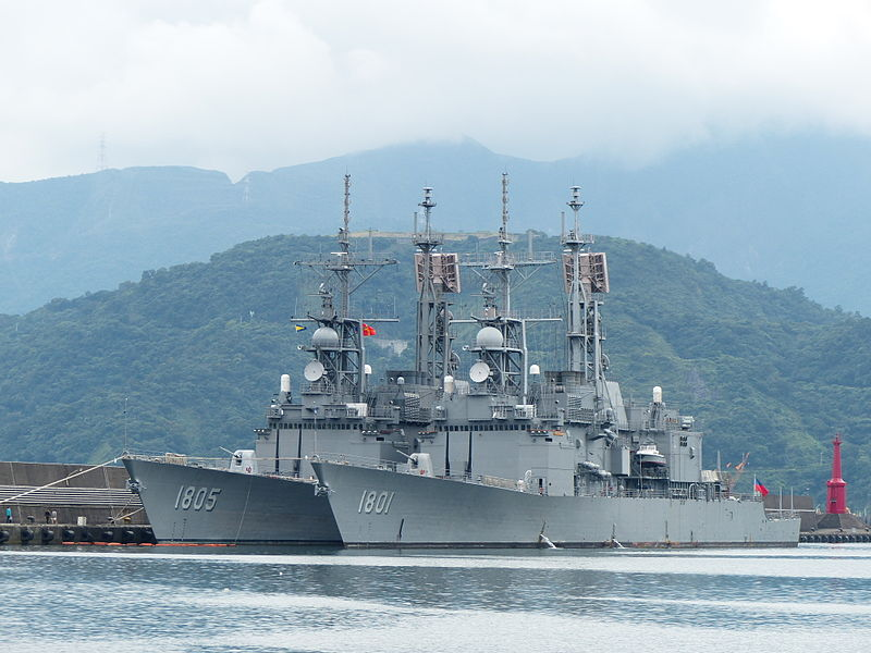 Taiwan's Keelung-class destroyers are retrofitted vessels bought from the US. Photo: WikiMedia