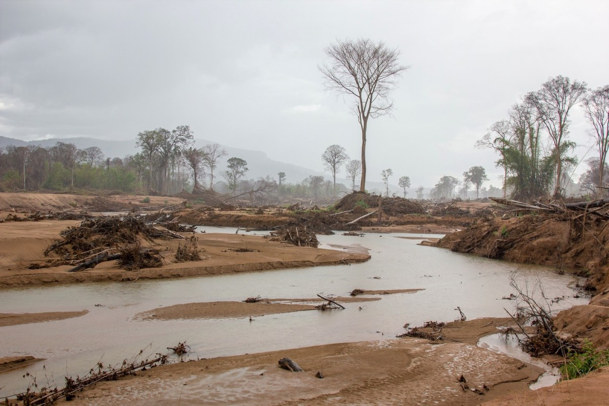 The dam collapse in Attapeu in southern Laos in July devastated forests south of the Xe Pian-Xe Nam Noy dam as well as nearby villages. Lack of proper compensation from dam builders and the government may have also caused a rise in illegal logging. Photo: Chris Humphrey