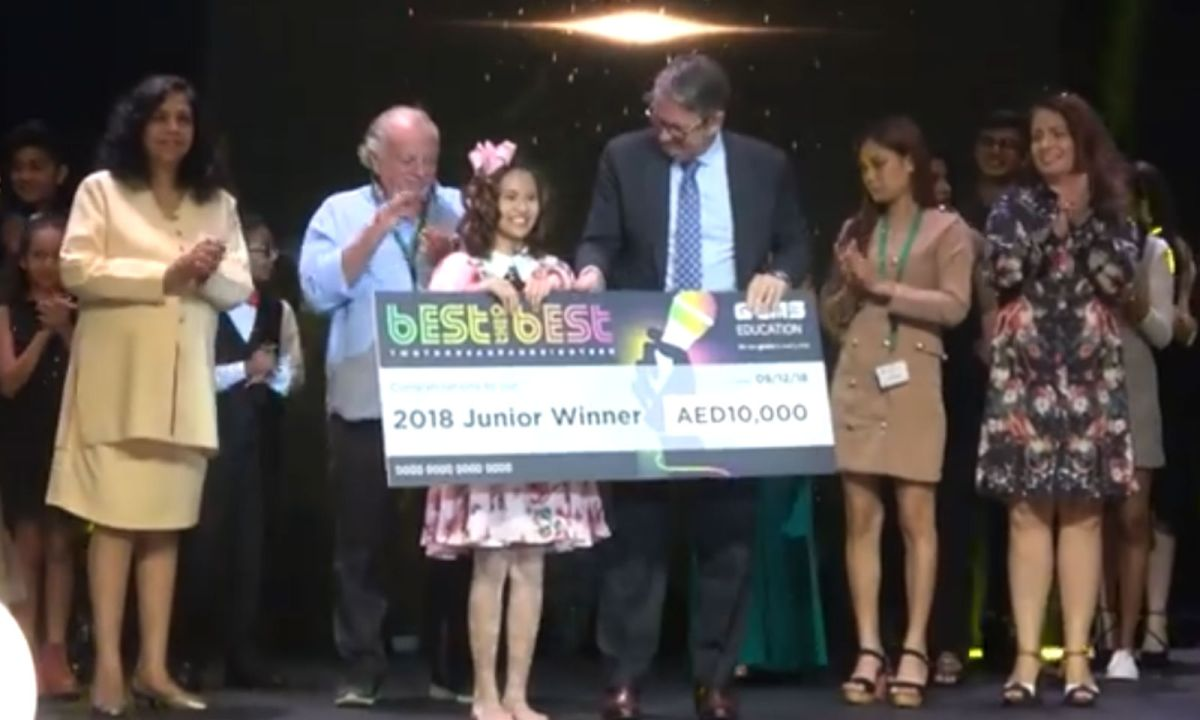 Filipino student Keira Isabelle Celiz was named the grand champion of GEMS Best of the Best 2018 - Junior Division in Dubai. Photo: Facebook/ GEMS Founders School Dubai