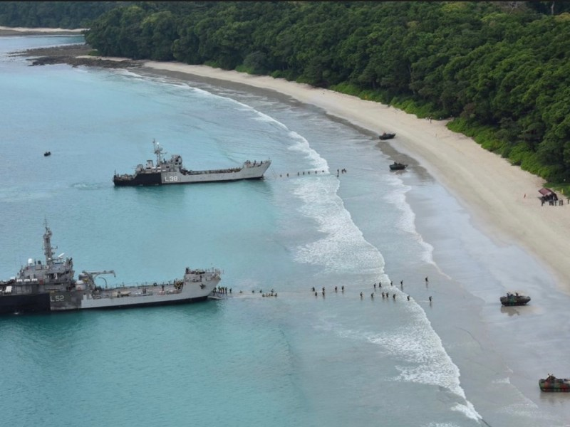 Indian naval vessels in the Andaman islands. Photo: Wikimedia