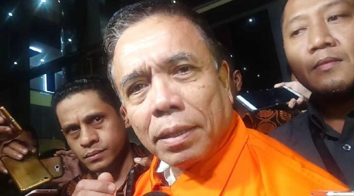 Aceh politician Irwandi Yusuf after being indicted on corruption charges. Photo: Facebook
