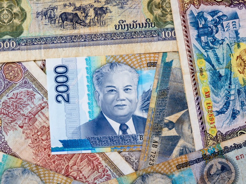 Lao kip banknotes in a collage image. Photo: iStock/Getty Images