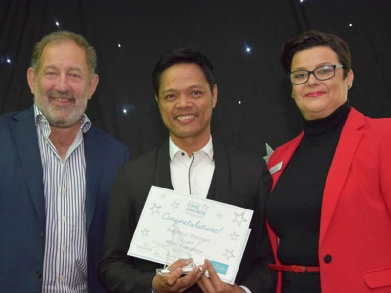 Filipino nurse Ridel Francisco was named Nurse of the Year at this year's Barchester Care Awards in the United Kingdom. Photo: Philippine Department of Foreign Affairs