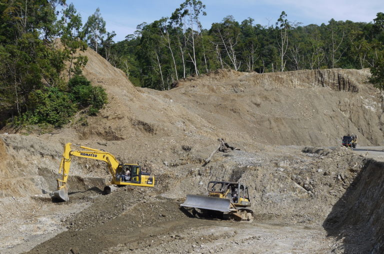The Indonesian government bills the Trans-Papua Highway as a boost to economic growth for an impoverished region, but many Papuans see the project as a means to move troops. Photo: William Laurance