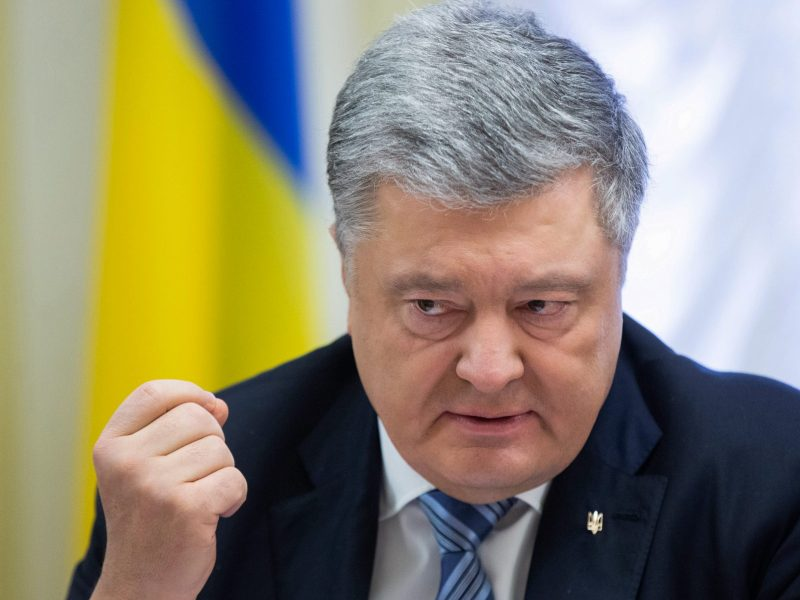 Ukrainian President Petro Poroshenko is unpopular and his support has dwindled. Photo: AFP/Mykola Lazarenko