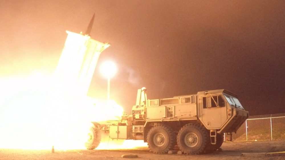 The land-based Terminal High Altitude Area Defense, or THAAD, interceptor is one of the alternatives being discussed. Photo: AFP/Missile Defense Agency