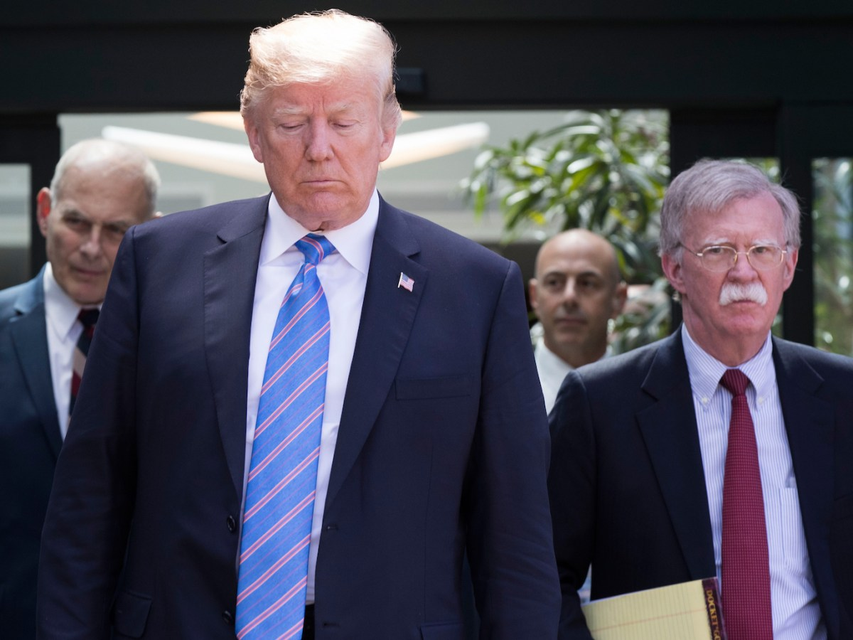 US President Donald Trump, with National Security Advisor John Bolton (R) and White House Chief of Staff John Kelly (L). Neither Trump nor and Bolton are known to be keen on arms treaties. Photo: AFP/Lars Hagberg