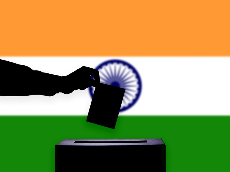 Indian flag flag, elections, ballot box, casting vote. Image: iStock