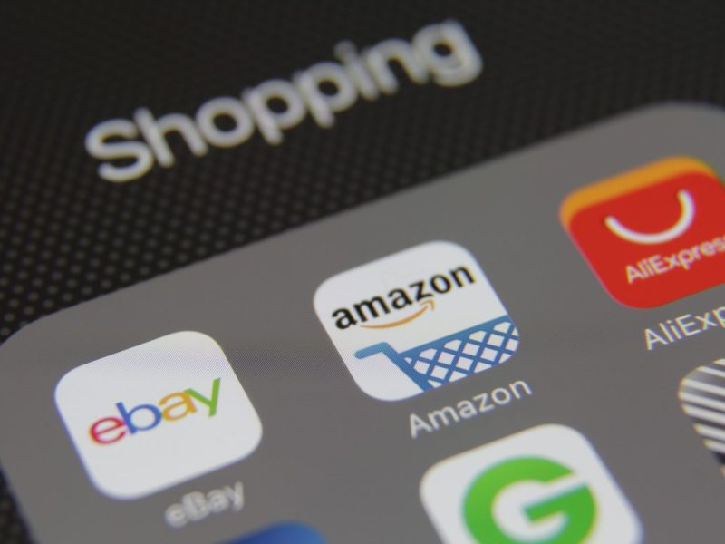 Internet shopping e-commerce applications eBay, Amazon, AliExpress. Photo: iStock