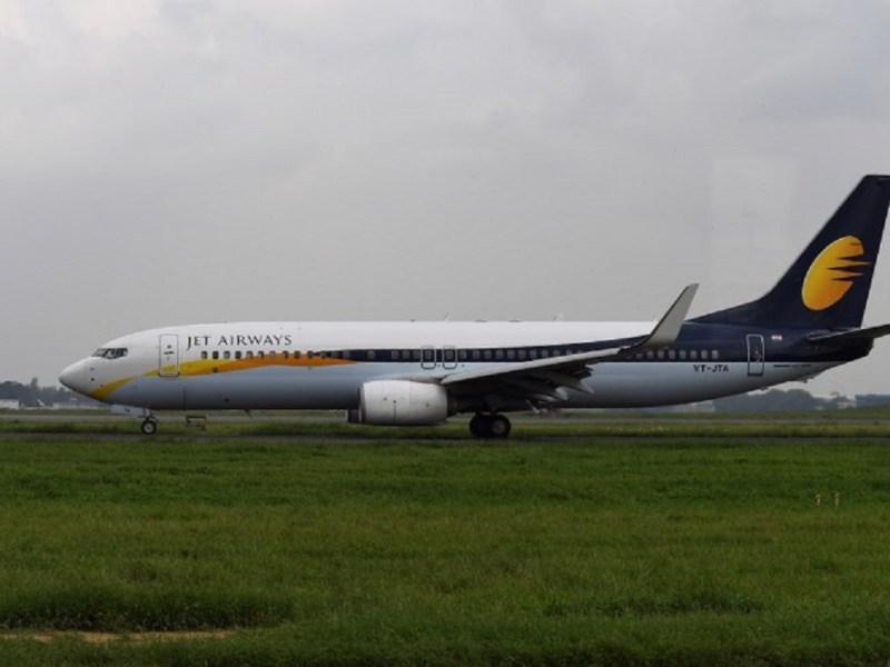 A Jet Airways aircraft at New Delhi's Indira Gandhi International Airport. Photo: AFP