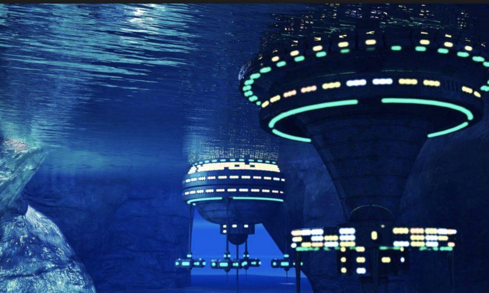 水底基地的概念圖。相片:Facebook