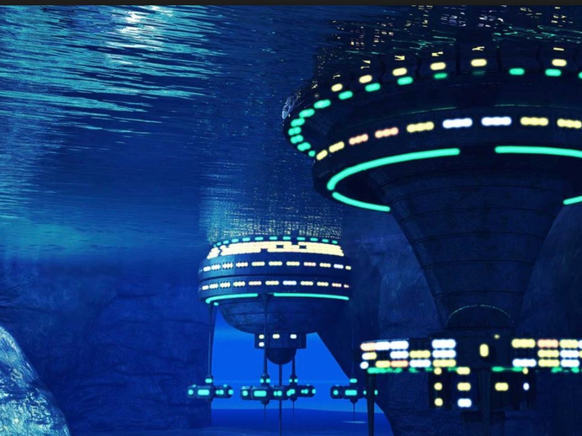 A conceptual image of an underwater colony. Image: Facebook