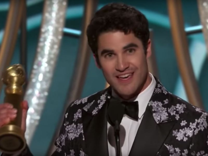 Actor Darren Criss is the first Filipino-American to win a Golden Globe award. Photo: YouTube