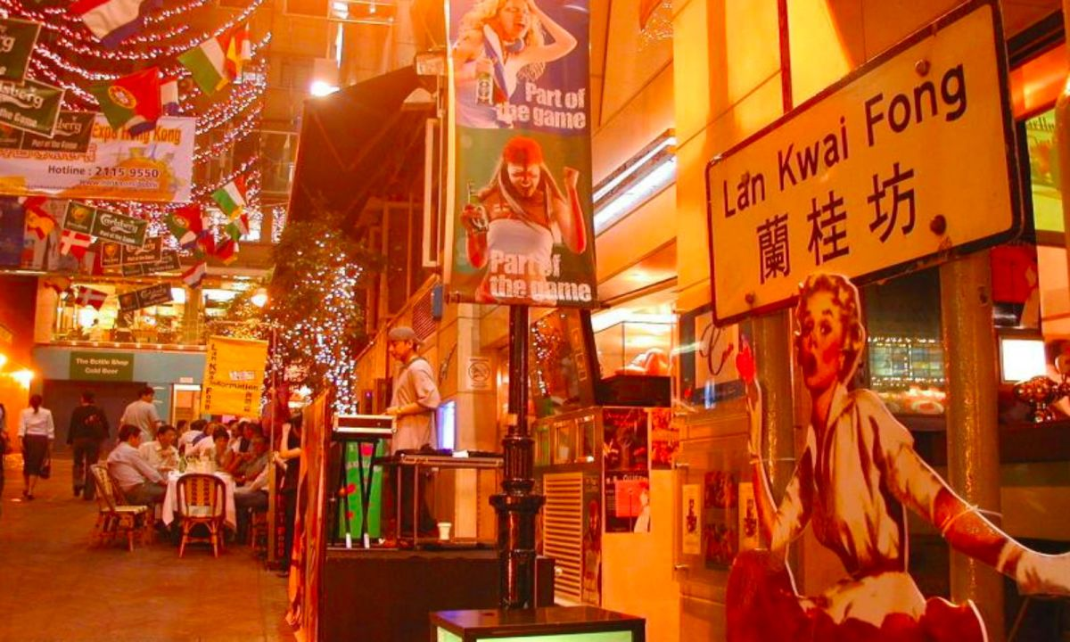 Lan Kwai Fong in Central on Hong Kong Island. Photo: Wikimedia Commons