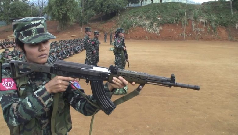 An Arakan Army rebel soldier at an undisclosed location. Photo: Youtube