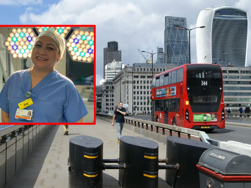 Filipino nurse Joy Ongcachuy was honored in Britain's New Year Honors List for her work after the London Bridge terrorist attack in 2017. Photo: Wikimedia Commons, Facebook (Philippine Embassy in the United Kingdom)