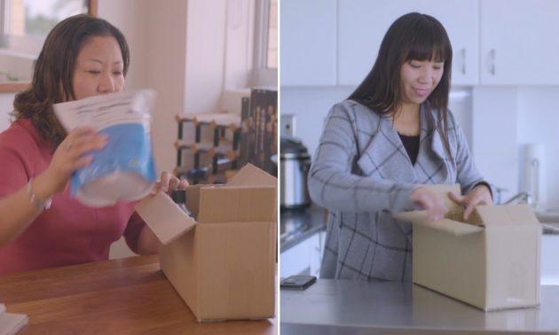 一位女士(左)購買產品後將其運送給中國的客戶(右)。相片:daigousales.com