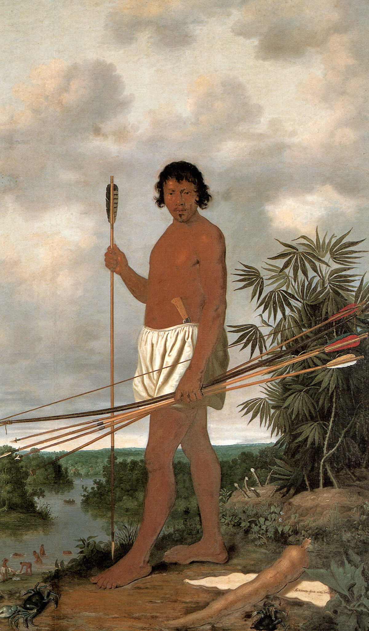 Albert Eckhout painting of a Tupi man. Source: Wikipedia