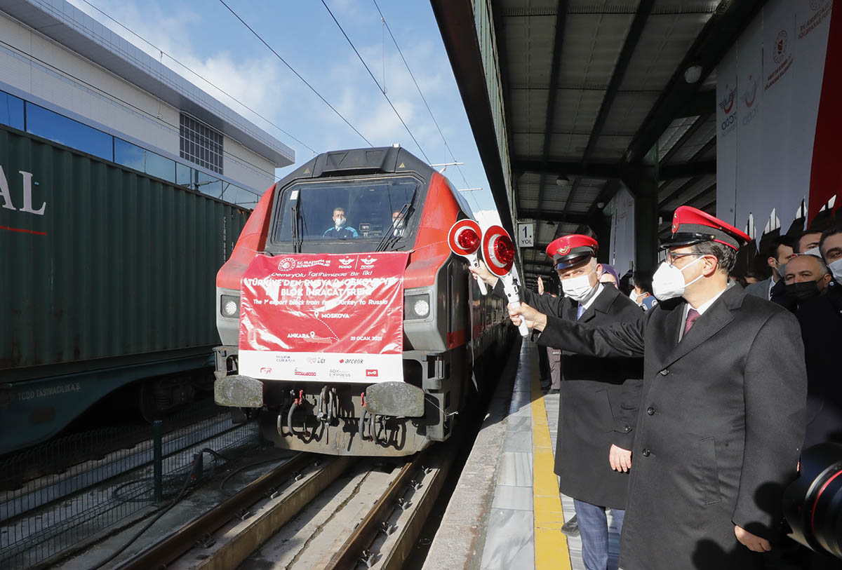 Freight train leaves Turkey's Ankara station for China and Russia