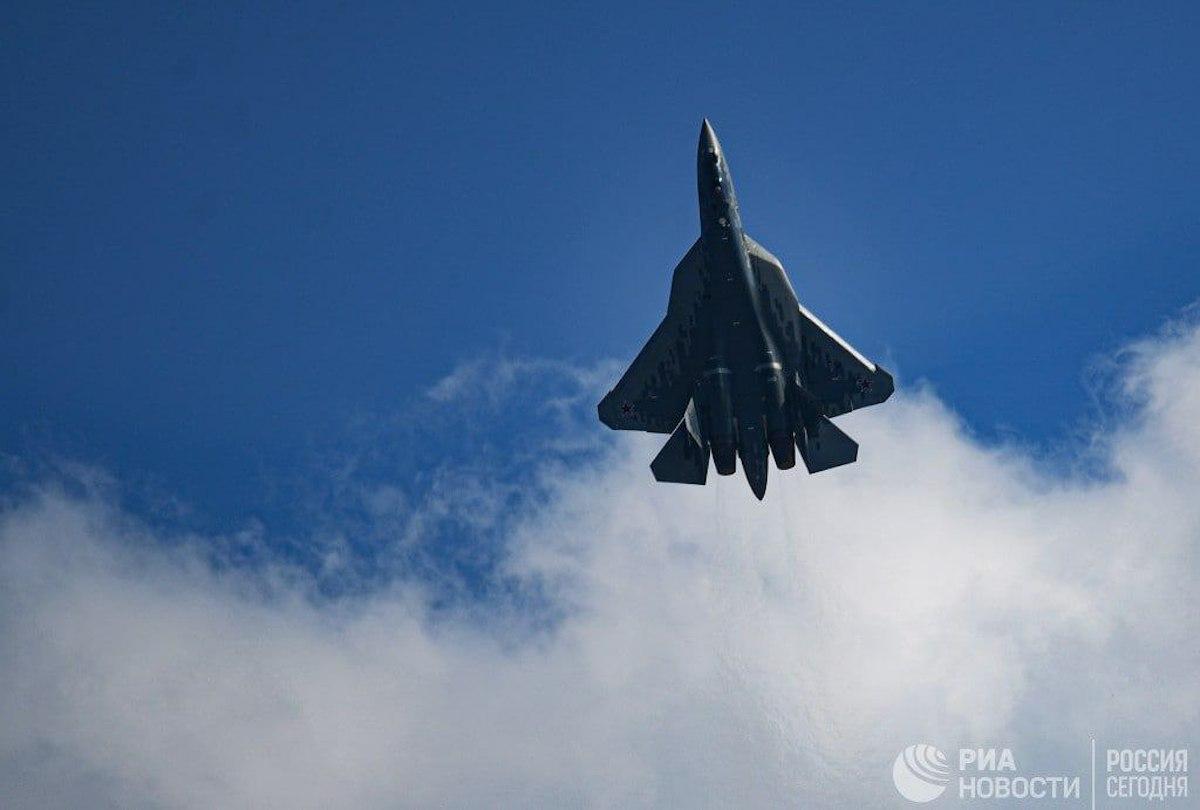 SU-57 exhibition flight at MAKS 2021. Photo: handout