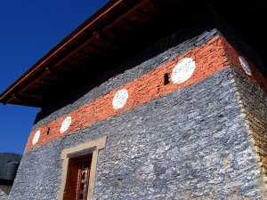 Inner courtyard building of one of the Best Places To Visit In Thimphu Bhutan, an ancient temple named Changangkha Lhakhang