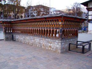 Best Places To Visit In Thimphu Bhutan - Clock Tower Square, Prayer Wheels