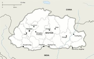 Best Places To Visit In Thimphu, Bhutan - Map of Bhutan